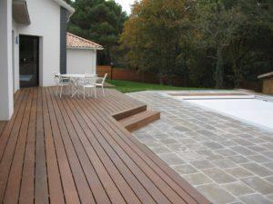 terrasse maçonneries jardin