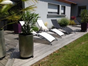 chaise longue salon jardin