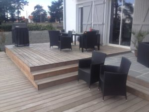 terrasse bois salon jardin