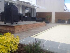 terrasse bois salon jardin maçonnerie