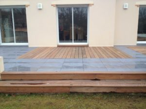 maçonnerie bois terrasse