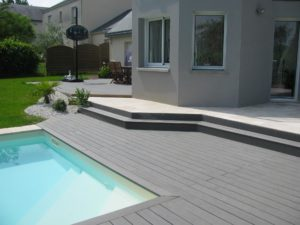 aménagement jardin maçonneries Nantes piscine