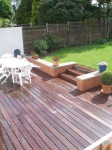 terrasse bois escalier