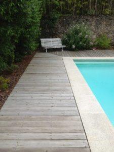 terrasse bois piscine aménagement piscine