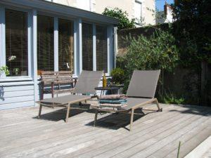 chaise longue terrasse bois