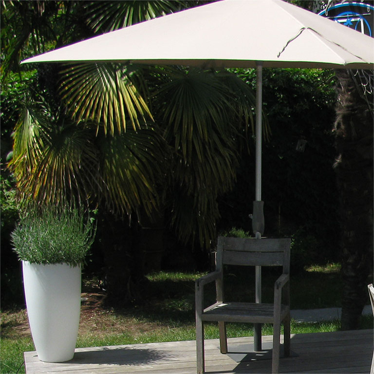 terrasse bois parasol